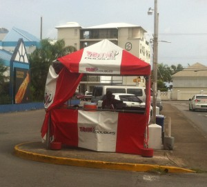 Trini Doubles in Barbados!