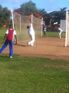 Bowling in the Wanderers CC nets